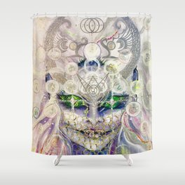 Lemurian Mermaid Queen Shower Curtain
