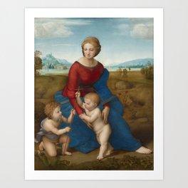 """Raffaello Sanzio da Urbino """"The Madonna of the meadow"""", circa 1506 Art Print"""
