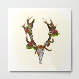 The Red Stag Metal Print