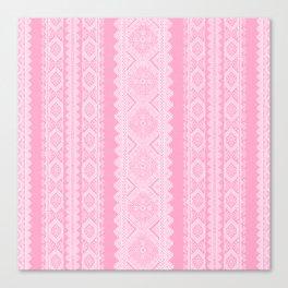 Ukrainian embroidery heavenly pink Canvas Print