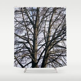 Stained Glass Tree Shower Curtain