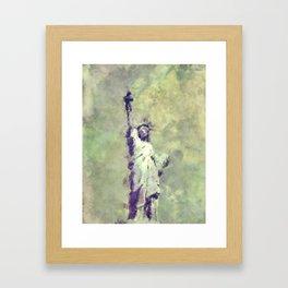 Textured Statue of Liberty Framed Art Print