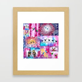Pink collage Framed Art Print