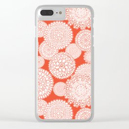 Delightful Doilies - Saffron Clear iPhone Case