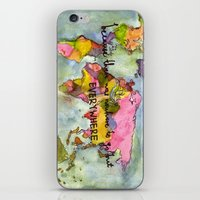 wanderlust iPhone & iPod Skins featuring wanderlust by Eliza L
