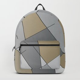 ABSTRACT LINES #1 (Grays & Beiges) Backpack