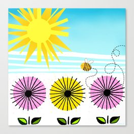 Buzzy As A Bee Canvas Print