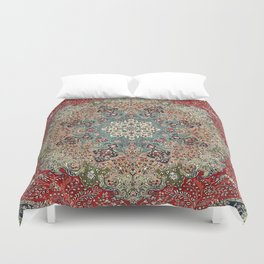 Antique Red Blue Black Persian Carpet Print Bettbezug