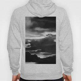 cloudy burning sky reacbw Hoody
