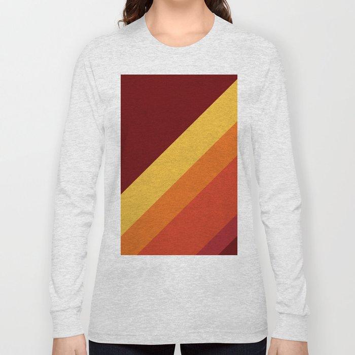 Retro 70s Color Palette II Long Sleeve T-shirt