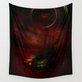 Leaving the planet 72 Pegasi Wall Tapestry