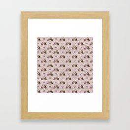 Owls in love (pink) Framed Art Print