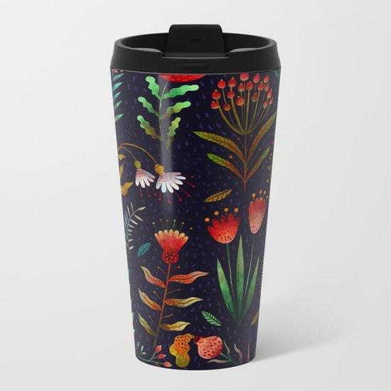 Bright flowers Metal Travel Mug