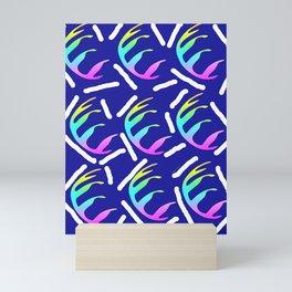 ABSTRACT RAINBOW LEAF DESIGN Mini Art Print