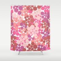 blush Shower Curtains featuring Blush by nandita singh