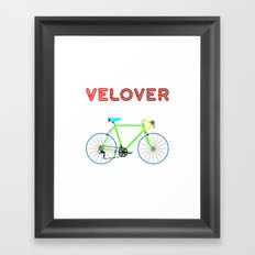 VeLover - Boy – June 12th – 200th Birthday of the Bicycle Framed Art Print
