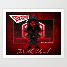 Darth Maul...Sith happens! Art Print