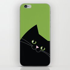 Black Cat and Color of the Year 2017, Greenery iPhone & iPod Skin