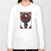 nouveau Long Sleeve T-shirts featuring Eyeliner (Nouveau) by Andrew Formosa