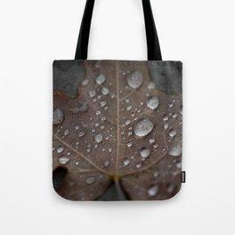 Water Droplet on Leaf Tote Bag