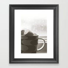 sunday hot chocolate.  Framed Art Print