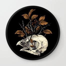 Kite Skull Study Wall Clock