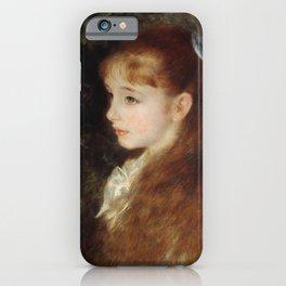 Portrait of Mademoiselle Irène Cahen d'Anvers (Little Irene) iPhone Case