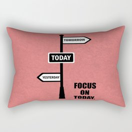 Lab No.4 -Focus On Today Business Quotes poster Rectangular Pillow
