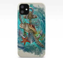 Turtle and Sea iPhone Case