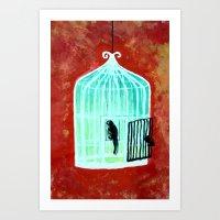 CageBird Art Print