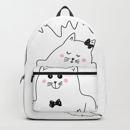 Cute ghost cats are celebrating Halloween Backpack