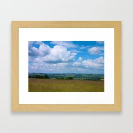 Looking across the Cotswolds, England Framed Art Print