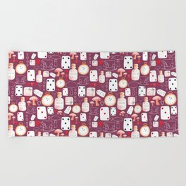 Alice in Wonderland - Purple Madness Beach Towel