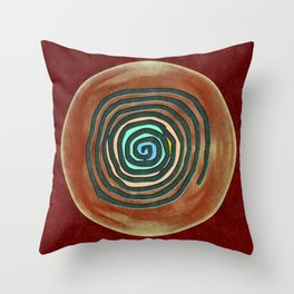 Tribal Maps - Magical Mazes #02 Throw Pillow
