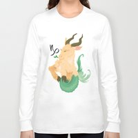 capricorn Long Sleeve T-shirts featuring Capricorn by Rejdzy