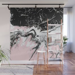 pink and black marble Wall Mural