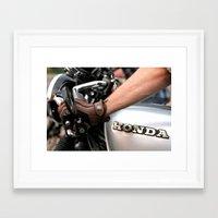 cafe racer Framed Art Prints featuring Honda Cafe Racer by ToastPhotos