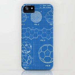 Soccer Ball Patent - Football Art - Blueprint iPhone Case