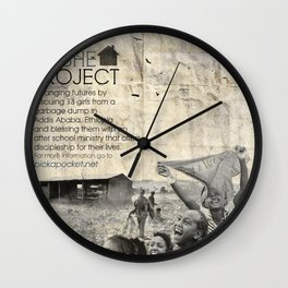 The Koshe Project Poster Wall Clock