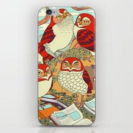 Burrowing Owl Family iPhone Skin