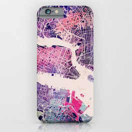 New York Mosaic Map #1 iPhone Case