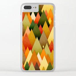071 – deep into the autumn forest texture II Clear iPhone Case