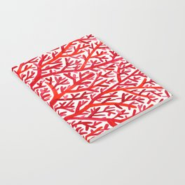Red Fan Coral Notebook