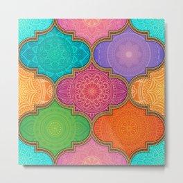 Mandala Quilt Second Edition Metal Print