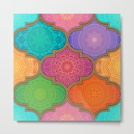 Mandala Quilt Second Edition Metal Print