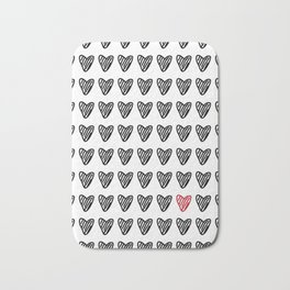 HEARTS ALL OVER PATTERN I Bath Mat