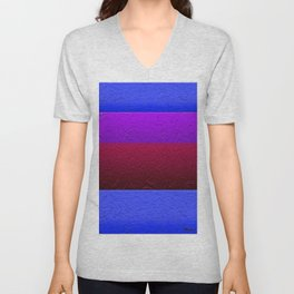 Blue Purple and Burgundy Passion Unisex V-Neck