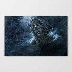 Open Water Horror Canvas Print