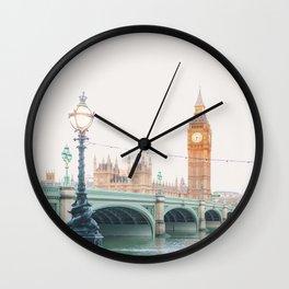 Thames Sunrise - London England Travel Photography Wall Clock