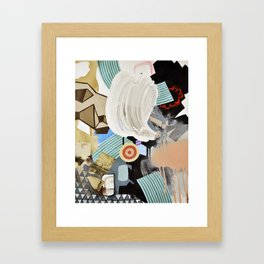 White Out Wipe Out Framed Art Print